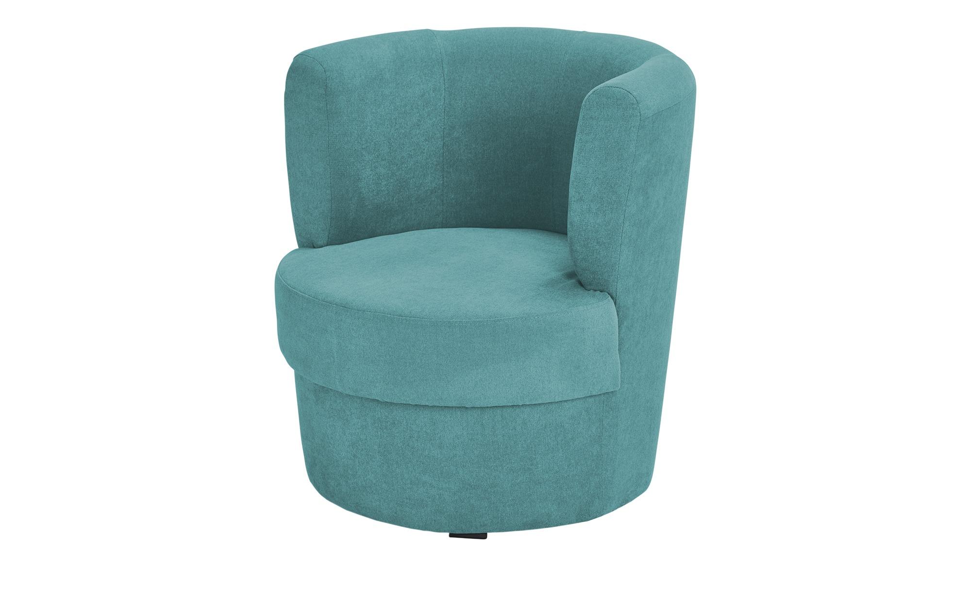 smart Sessel  Marina - türkis/petrol - 60 cm - 69 cm - 60 cm - Polstermöbel > Sessel > Cocktailsessel - Möbel Kraft | Wohnzimmer > Sessel > Cocktailsessel & Clubsessel | smart