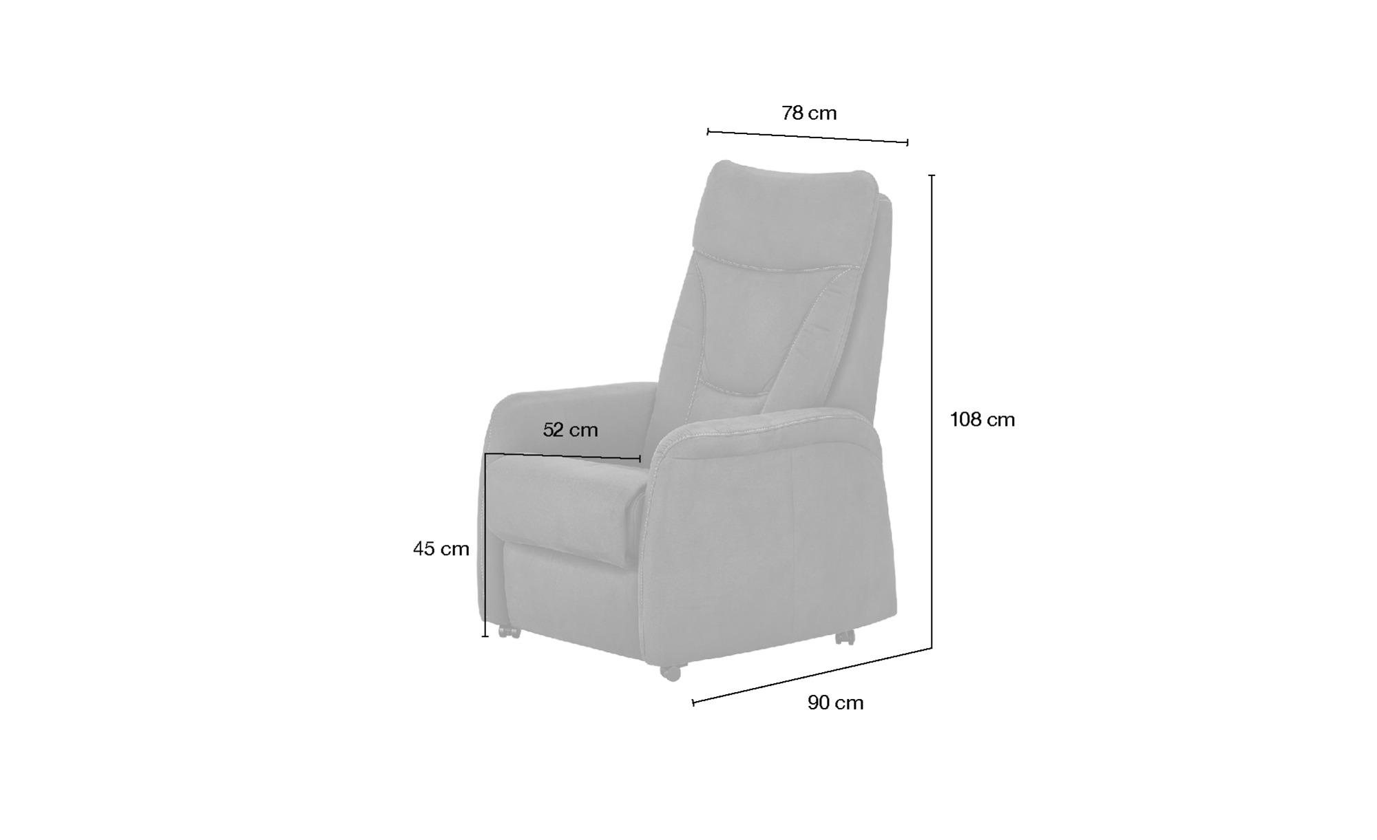 Hukla Fernsehsessel - creme - 78 cm - 108 cm - 90 cm - Polstermöbel > Sessel > Fernsehsessel - Möbel Kraft | Wohnzimmer > Sessel > Fernsehsessel | Hukla