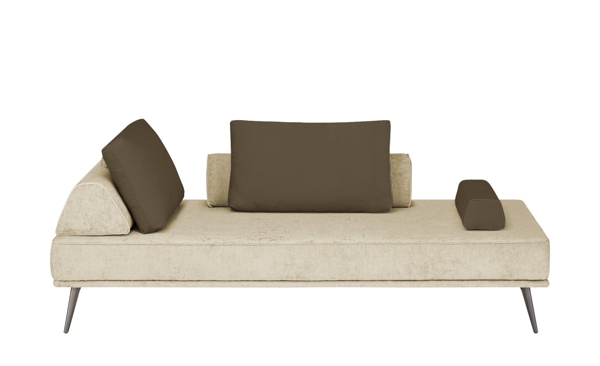 SOHO Tagesliege  Alexa - beige - 202 cm - 80 cm - 102 cm - Polstermöbel > Relaxliegen - Möbel Kraft | Wohnzimmer > Sessel > Relaxliegen | SOHO