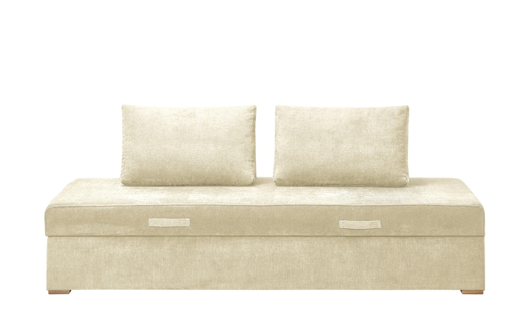 smart Sofaliege - beige - 203 cm - 43 cm - 92 cm - Polstermöbel > Sofas > E günstig online kaufen