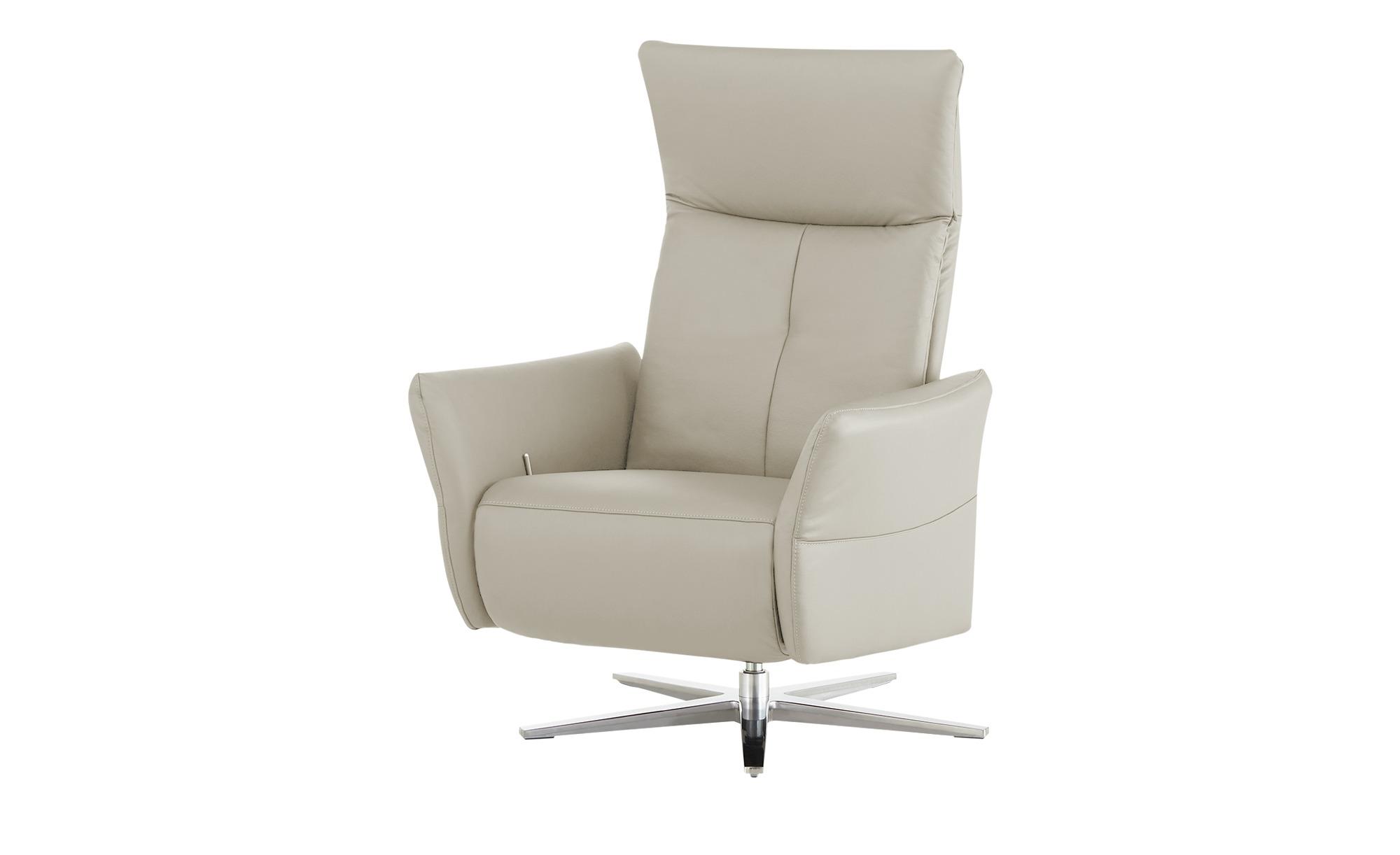 Wohnwert Funktionssessel  Katja - grau - Polstermöbel > Sessel > Ledersesse günstig online kaufen