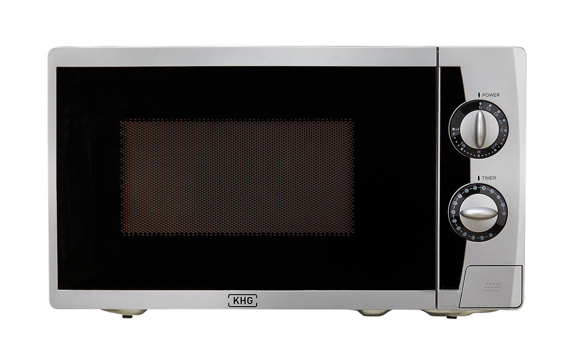 KHG Mikrowelle  MW-20GS - silber - Metall-lackiert, Kunststoff - 44 cm - 25,85 cm - 34 cm - Elektrokleingeräte > Mikrowellen - Möbel Kraft | Küche und Esszimmer > Küchenelektrogeräte | KHG