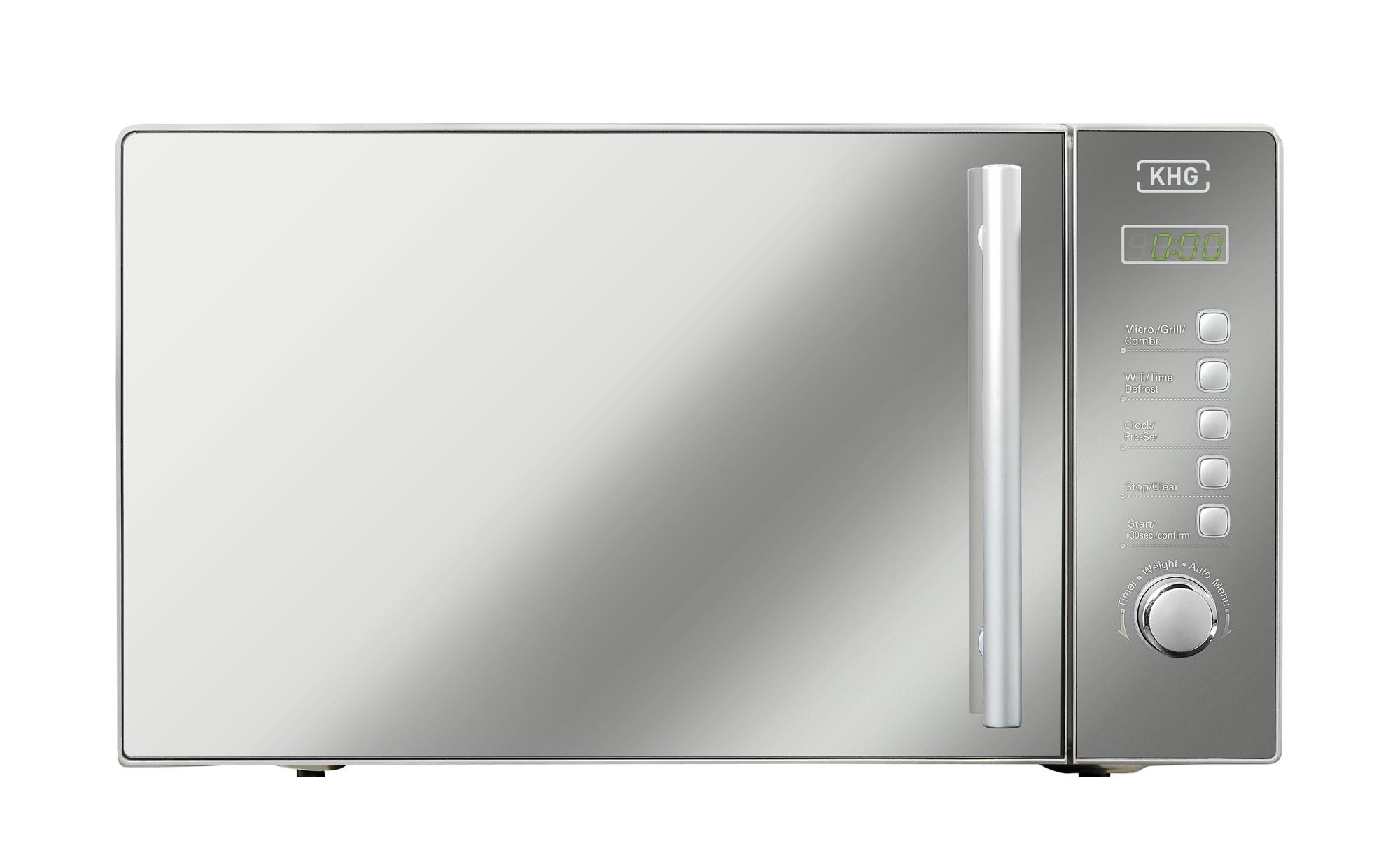 KHG Mikrowelle  MW-20GSD - silber - Kunststoff, Metall-lackiert - 43,3 cm - 25,8 cm - 34,5 cm - Elektrokleingeräte > Mikrowellen - Möbel Kraft   Küche und Esszimmer > Küchenelektrogeräte > Mikrowellen   KHG
