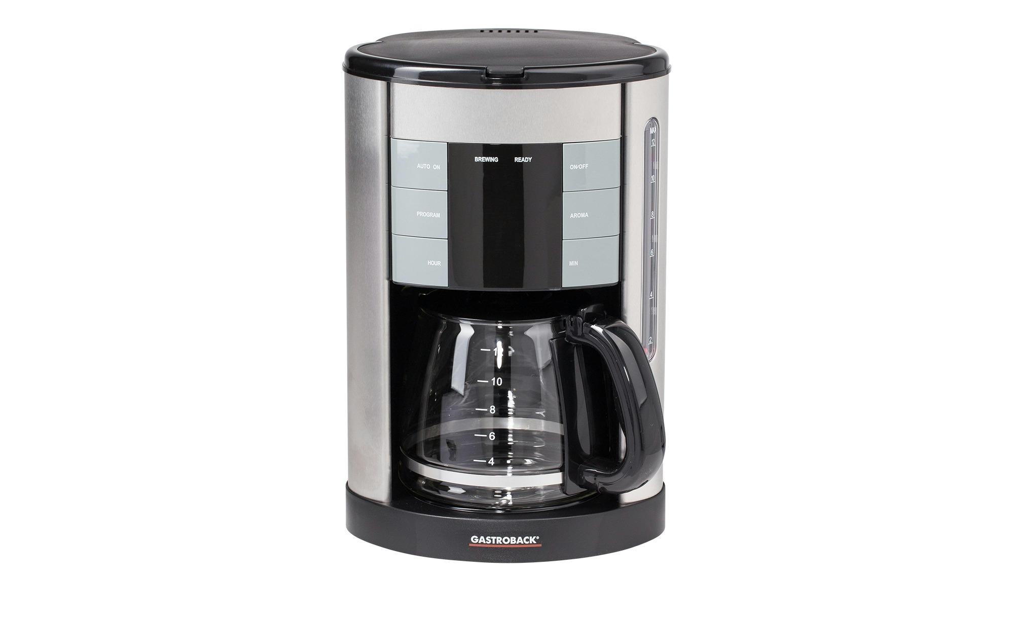 GASTROBACK Kaffeeautomat   42703 - silber - Metall, Glas , Kunststoff - 23,1 cm - 36 cm - 22,2 cm - Elektrokleingeräte > Kaffee & Espressomaschinen - Möbel Kraft | Küche und Esszimmer > Kaffee und Tee > Kaffeemaschinen | Glas | GASTROBACK