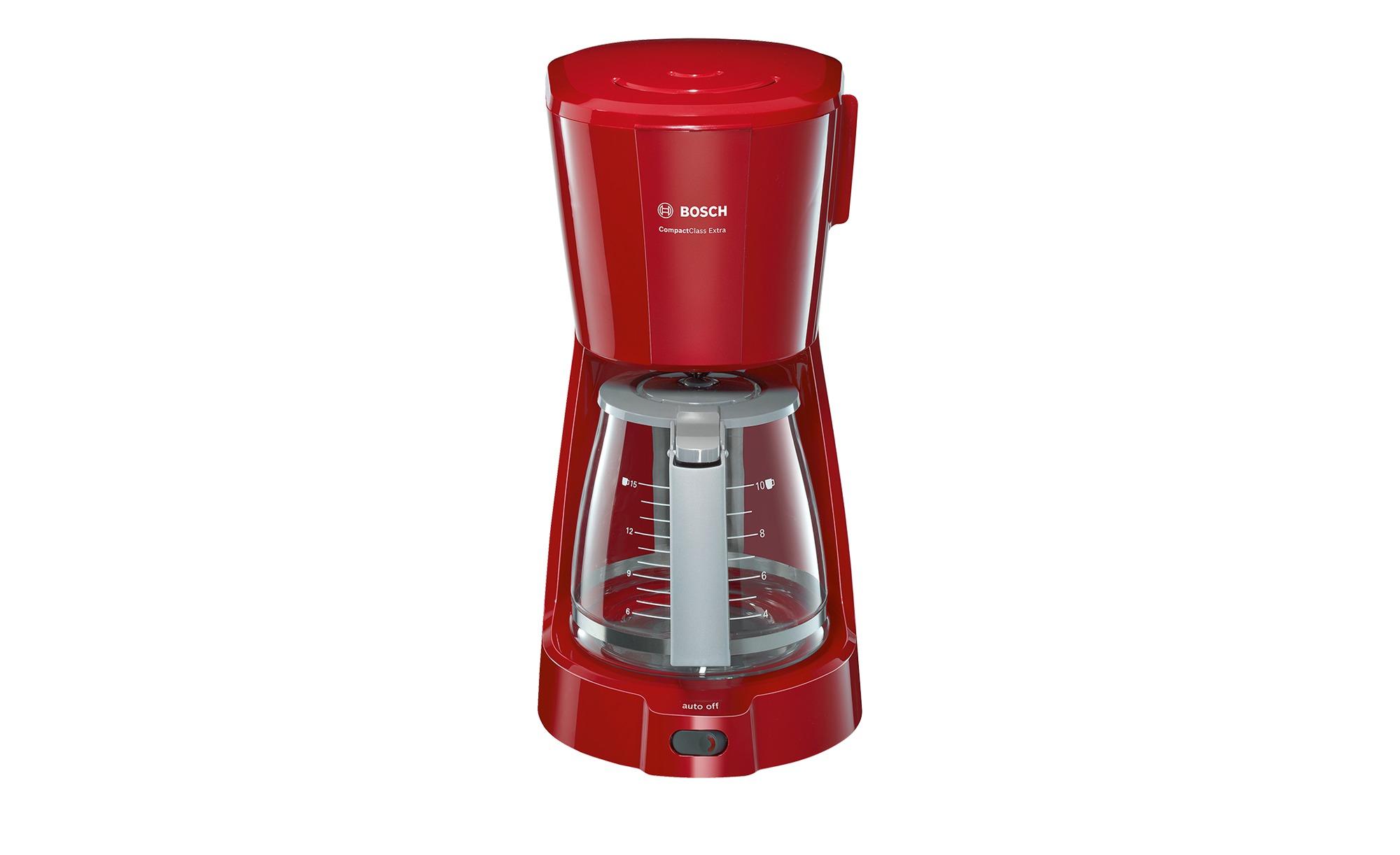 BOSCH Kaffeeautomat  TKA 3A034 - rot - Kunststoff, Glas - 17 cm - 33,5 cm - 24,5 cm - Elektrokleingeräte > Kaffee & Espressomaschinen - Möbel Kraft | Küche und Esszimmer > Kaffee und Tee > Kaffeemaschinen | BOSCH