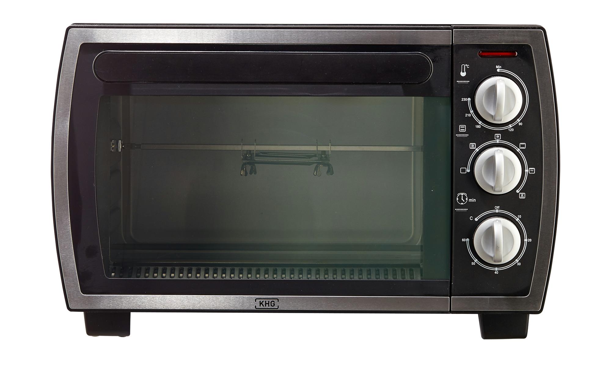 KHG Minibackofen  MBO-22S(A13) - schwarz - Kunststoff - 47 cm - 30 cm - 39 cm - Elektrokleingeräte > Backen, Kochen, Grillen - Möbel Kraft | Küche und Esszimmer > Küchenelektrogeräte > Küche Grill | KHG