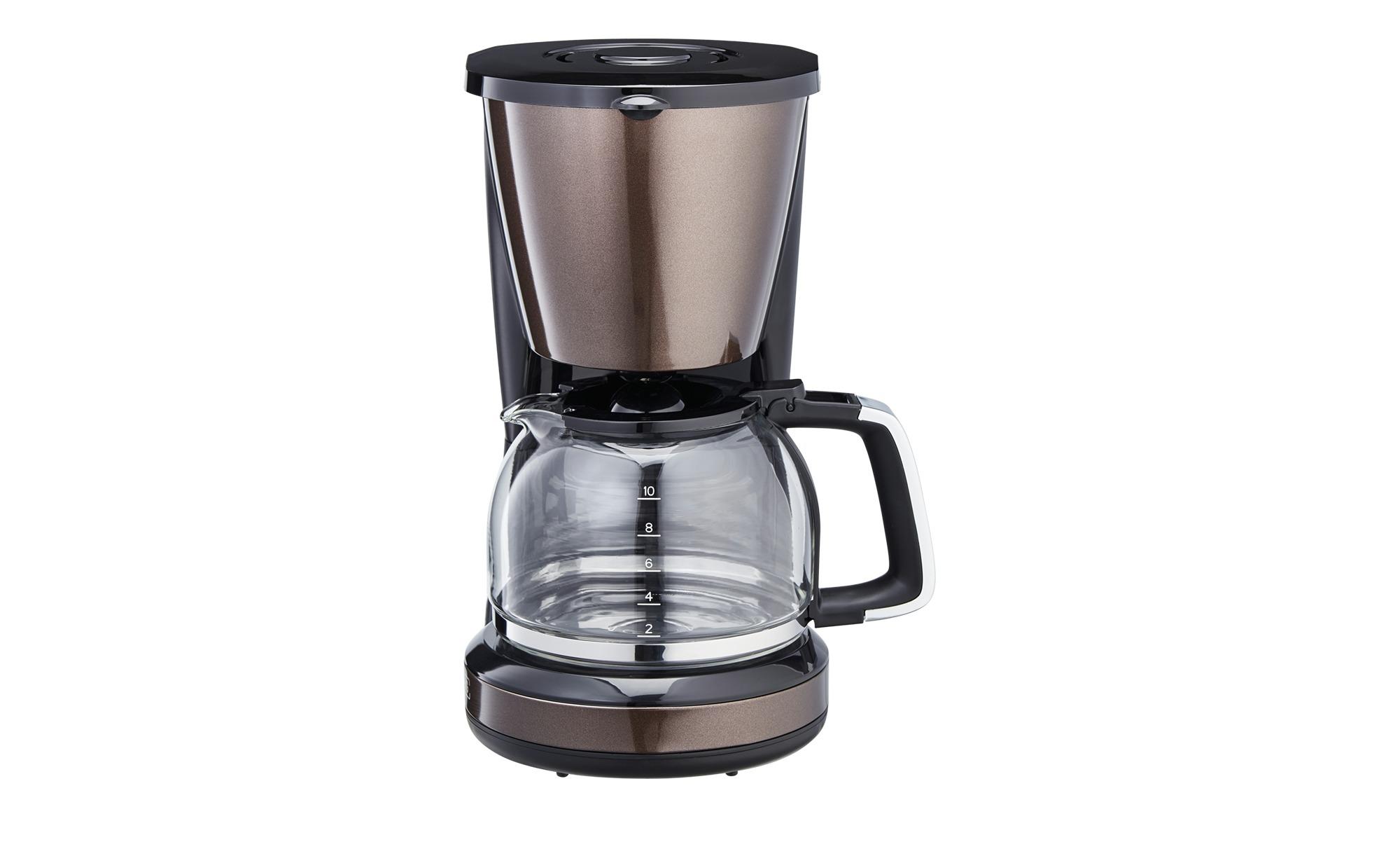 KHG Kaffeeautomat  KA-123(MMS) - braun - Kunststoff - 16,95 cm - 31,7 cm - 23,7 cm - Elektrokleingeräte > Kaffee & Espressomaschinen - Möbel Kraft   Küche und Esszimmer > Kaffee und Tee   KHG