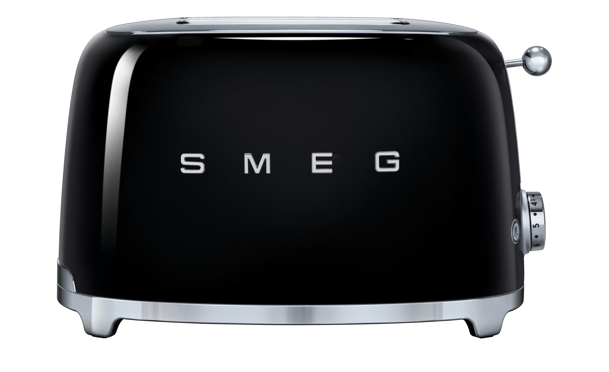 smeg Toaster  TSF01BLEU - schwarz - Edelstahl - 31 cm - 19,8 cm - 19,5 cm - Dekoration > Geschenkartikel > Geschenke für Genießer - Möbel Kraft | Küche und Esszimmer > Küchengeräte > Toaster | smeg