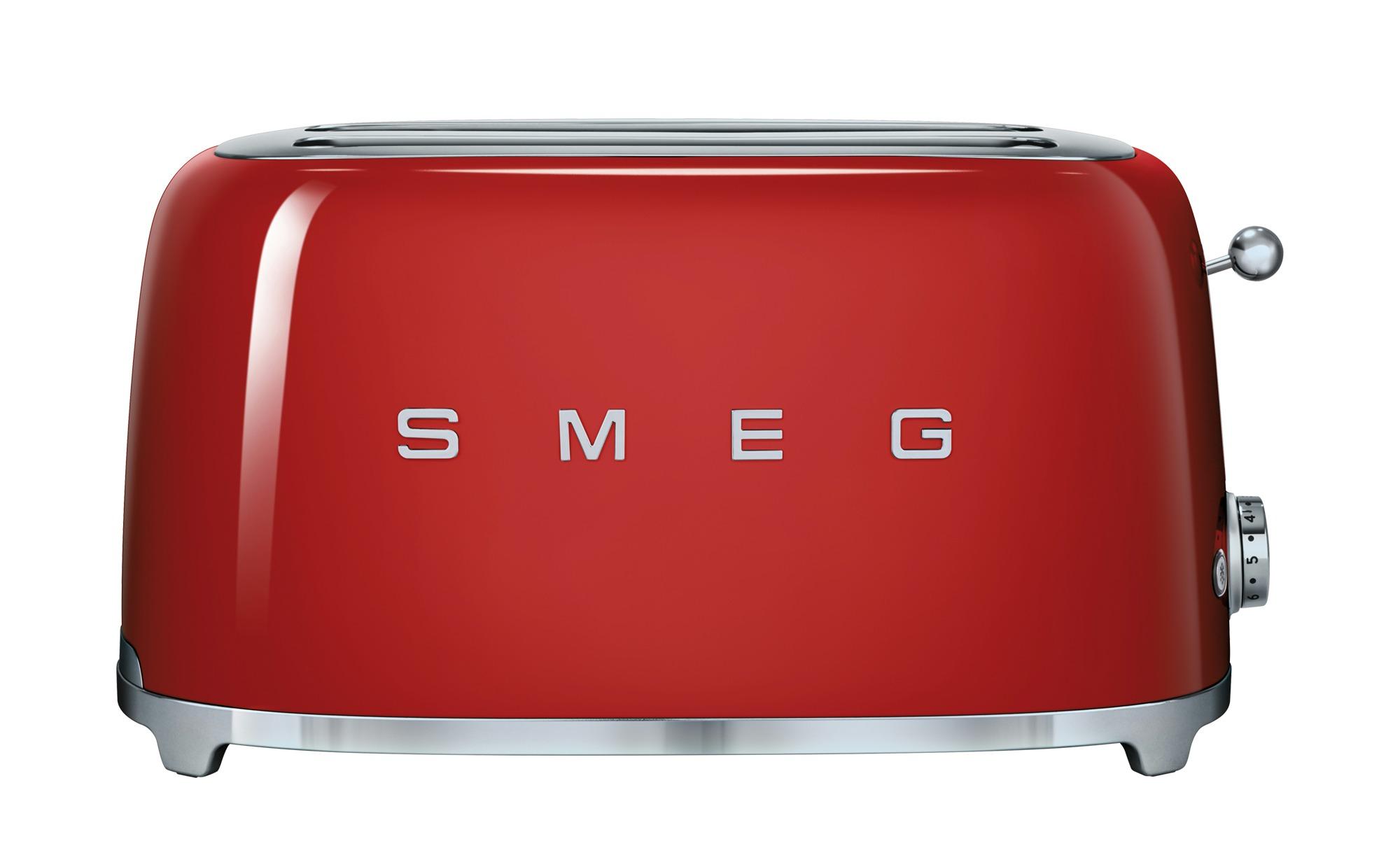 smeg 4-Scheiben-Toaster  TSF02RDEU - rot - Edelstahl - 39,4 cm - 21,5 cm - 20,8 cm - Elektrokleingeräte > Toaster - Möbel Kraft | Küche und Esszimmer > Küchengeräte > Toaster | smeg