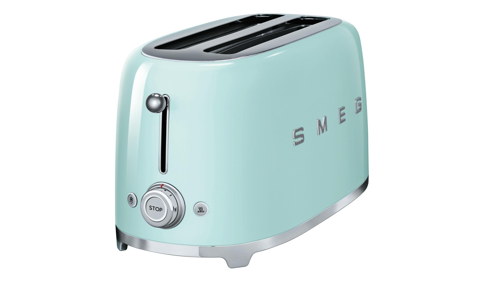smeg 4-Scheiben-Toaster  TSF02PGEU - grün - Edelstahl - 39,4 cm - 21,5 cm - 20,8 cm - Elektrokleingeräte > Toaster - Möbel Kraft | Küche und Esszimmer > Küchengeräte > Toaster | smeg