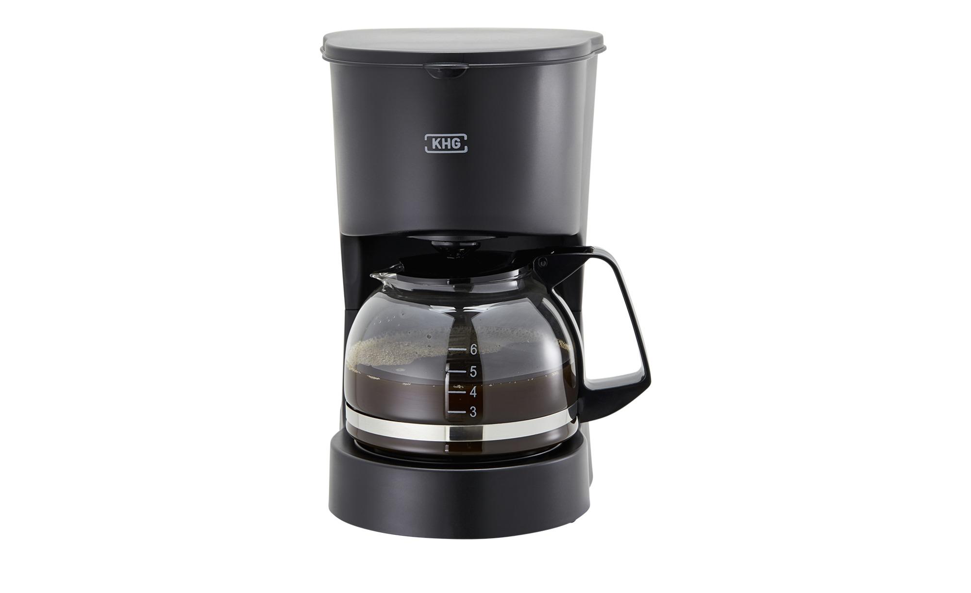 KHG Kaffeautomat  KA-127 (S) - schwarz - Kunststoff, Glas - 15 cm - 24,5 cm - 18,3 cm - Elektrokleingeräte > Kaffee & Espressomaschinen - Möbel Kraft   Küche und Esszimmer > Kaffee und Tee > Espressomaschinen   KHG