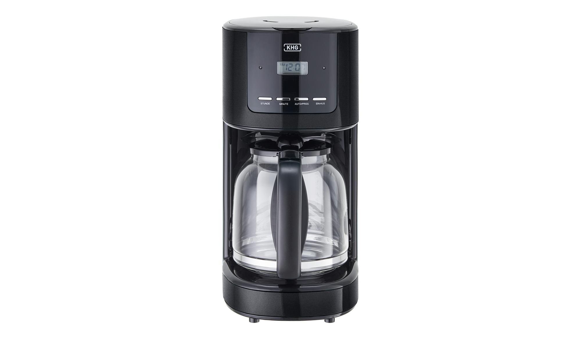 KHG Kaffeeautomat  KA-184 (S) - schwarz - Metall, Kunststoff, Glas - 17,5 cm - 36,5 cm - 23,5 cm - Elektrokleingeräte > Kaffee & Espressomaschinen - Möbel Kraft | Küche und Esszimmer > Kaffee und Tee > Kaffeemaschinen | KHG
