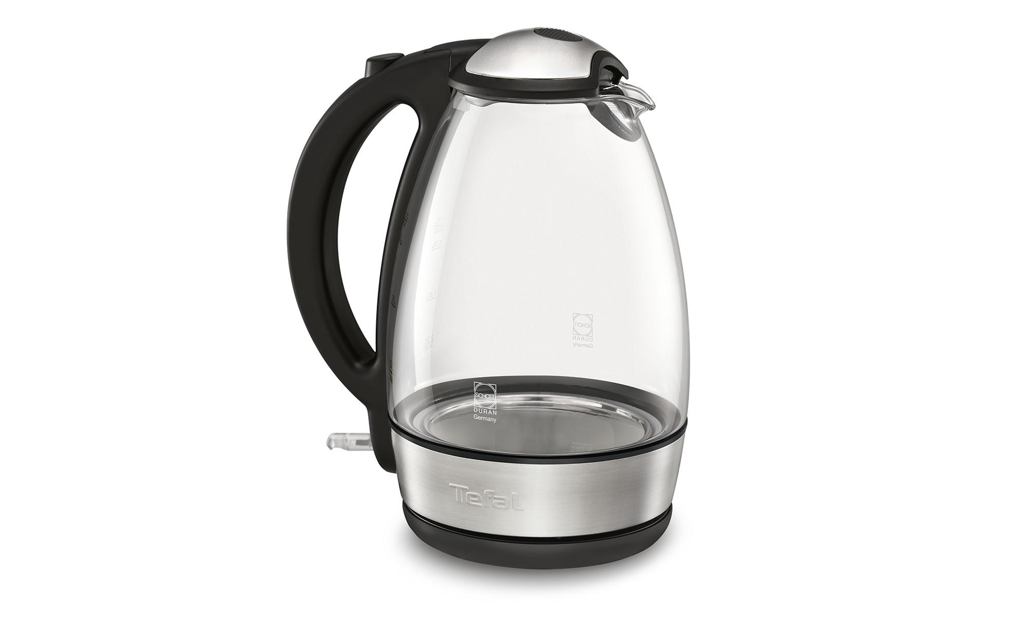 Tefal Wasserkocher  KI 7208 - Kunststoff, Glas , Edelstahl - 24 cm - 17 cm - 26 cm - Elektrokleingeräte > Wasserkocher - Möbel Kraft