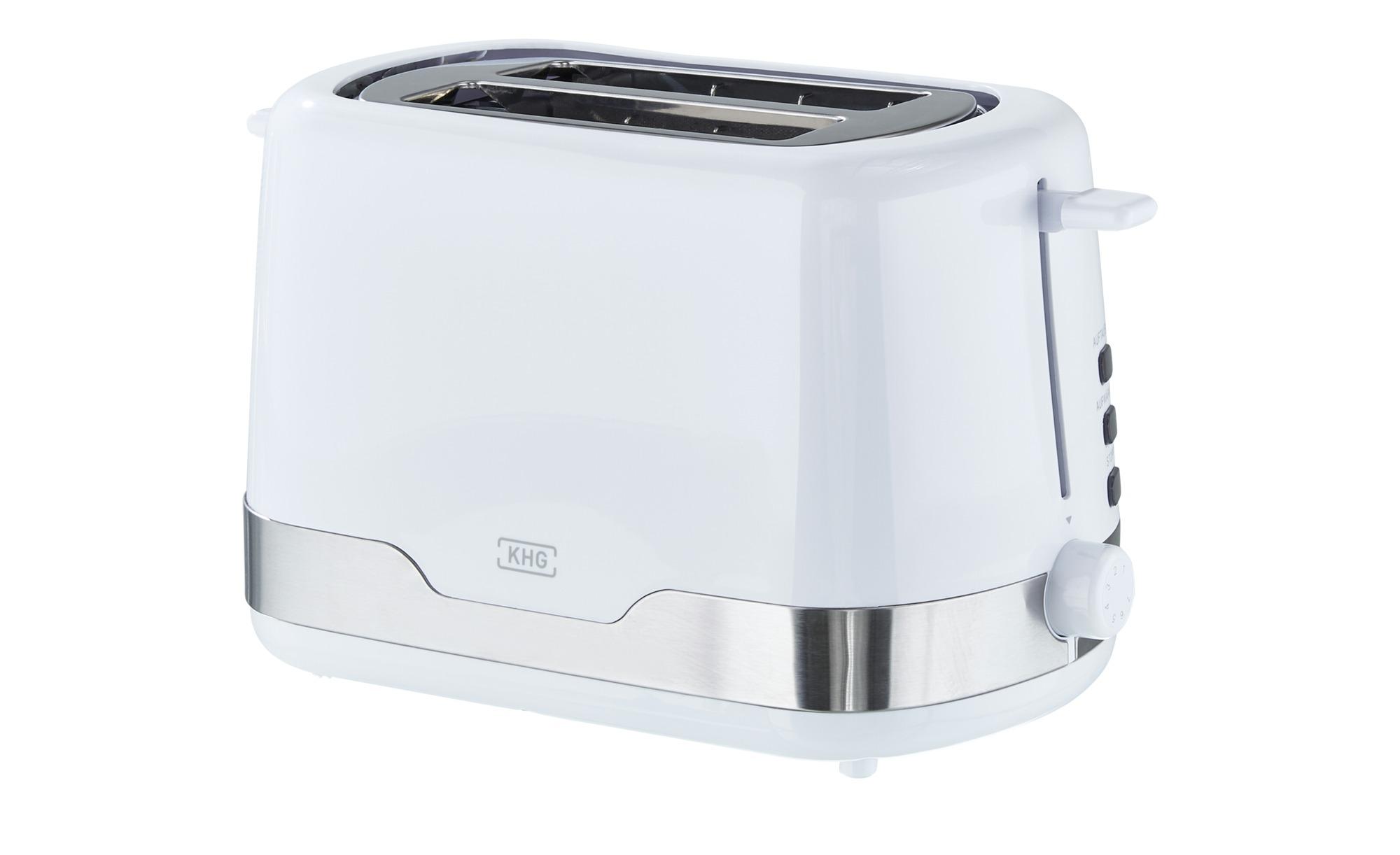 KHG Toaster  TO-857 WE2 - weiß - Metall, Edelstahl, Kunststoff - 30 cm - 18 günstig online kaufen