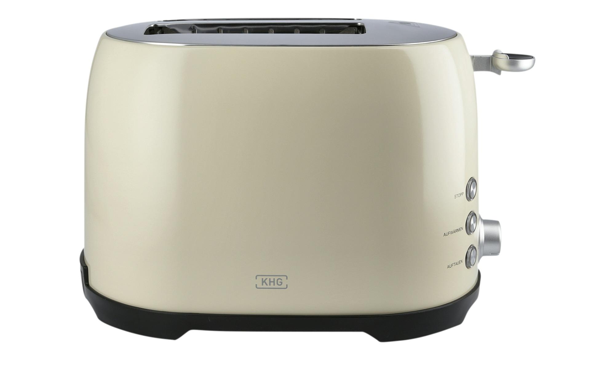 KHG Toaster  TO-858 CE - creme - Edelstahl, Kunststoff - 31 cm - 20 cm - 18 cm - Elektrokleingeräte > Toaster - Möbel Kraft   Küche und Esszimmer > Küchengeräte > Toaster   KHG