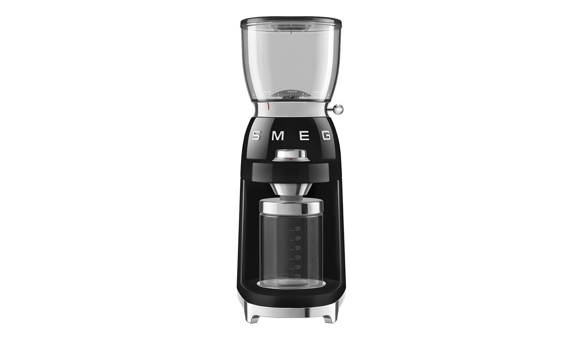 smeg Kaffeemühle  CGF01BLEU - schwarz - Kunststoff, Aluminium - 25 cm - 46 cm - 17 cm - Elektrokleingeräte > Kaffee & Espressomaschinen - Möbel Kraft | Küche und Esszimmer > Kaffee und Tee > Espressomaschinen | smeg