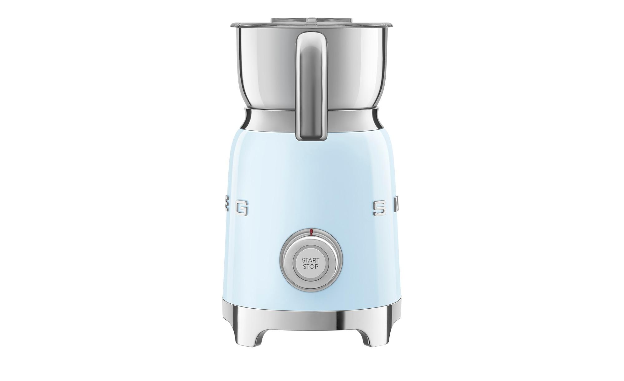 smeg Milchaufschäumer  MFF01PBEU - blau - Edelstahl, Kunststoff - 18,4 cm - 25,1 cm - 14,2 cm - Elektrokleingeräte > Kaffee & Espressomaschinen - Möbel Kraft   Küche und Esszimmer > Kaffee und Tee > Milchaufschäumer   smeg