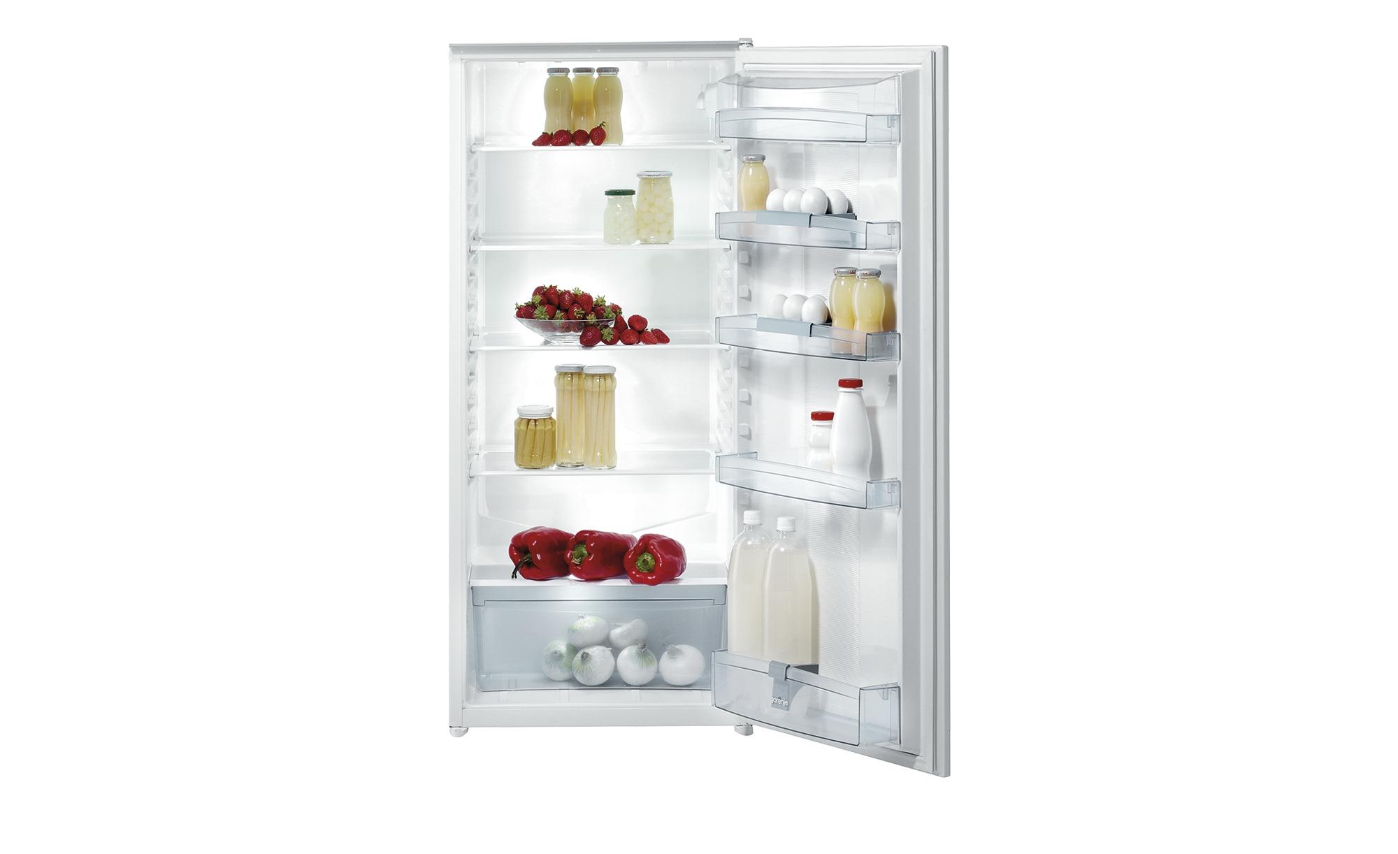 gorenje Einbau-Kühlschrank  RI 4122 AW - weiß - Kunststoff, Metall, Glas - 56 cm - 122,5 cm - 56 cm - Elektrogeräte > Einbaugeräte - Möbel Kraft | Küche und Esszimmer > Küchenelektrogeräte > Kühlschränke | Glas | gorenje