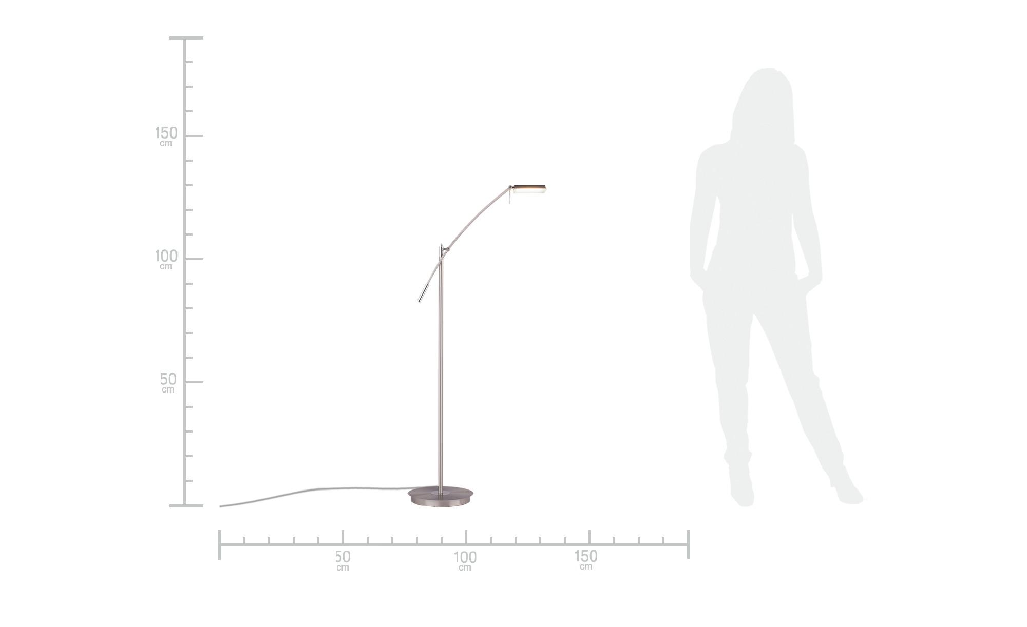 LED-Leseleuchte nickel matt schwenkbar - silber - Kurze Lieferzeit > Leucht günstig online kaufen