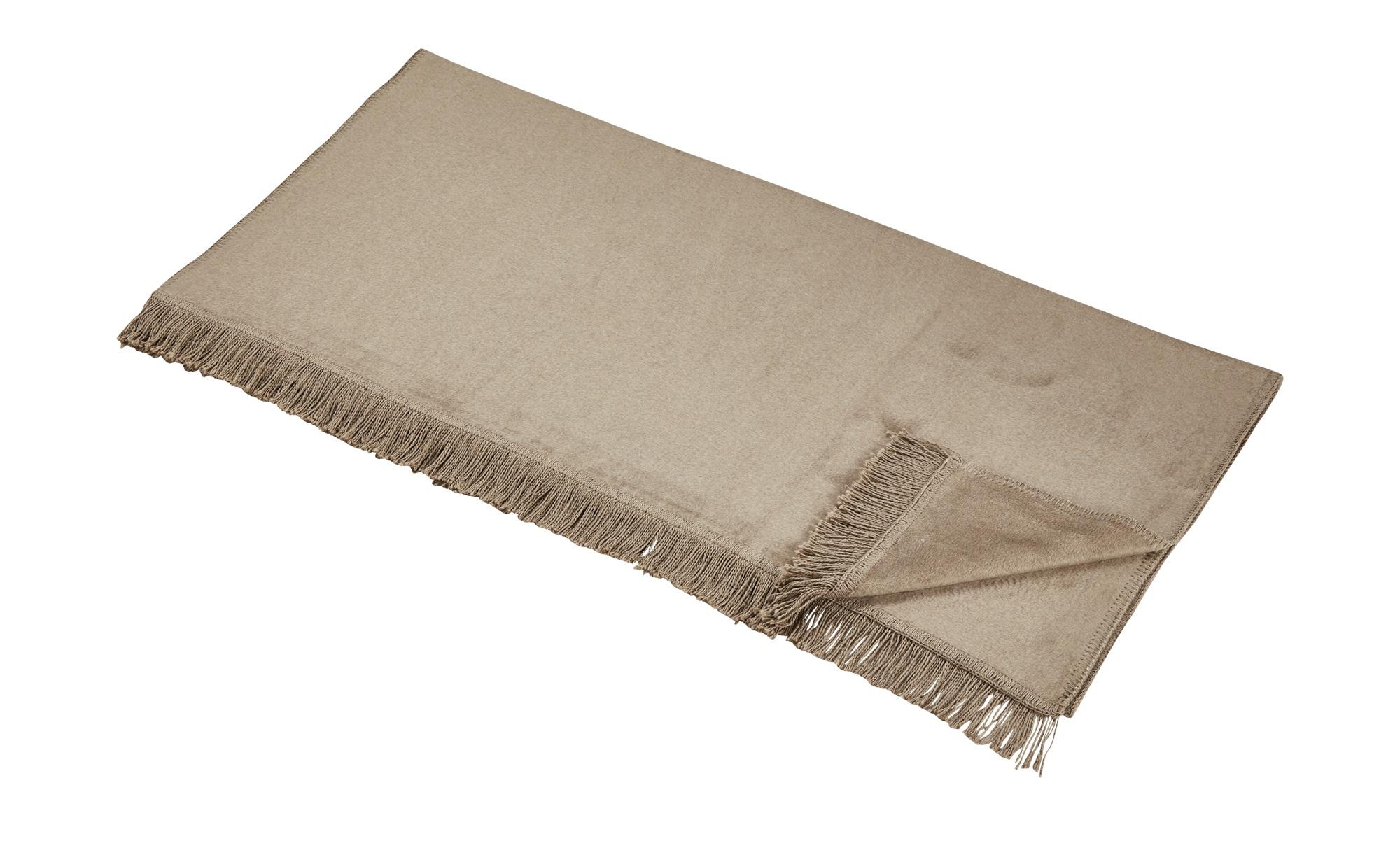 cce580c518 LAVIDA Sofaläufer Uni - braun - 60% Baumwolle, 40% Polyacryl - 100 cm -  Bettwaren > Tagesdecken & Bettüberwürfe - Möbel Kraft