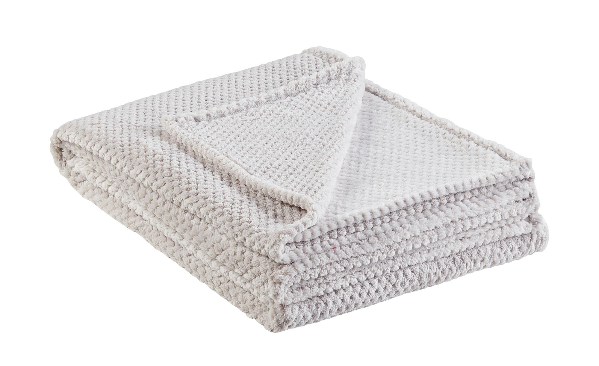for friends Coralfleecedecke  Mia - grau - 100% Polyester - 150 cm - Heimtextilien > Kuscheldecken - Möbel Kraft | Heimtextilien > Decken und Kissen > Mehr-Decken | for friends