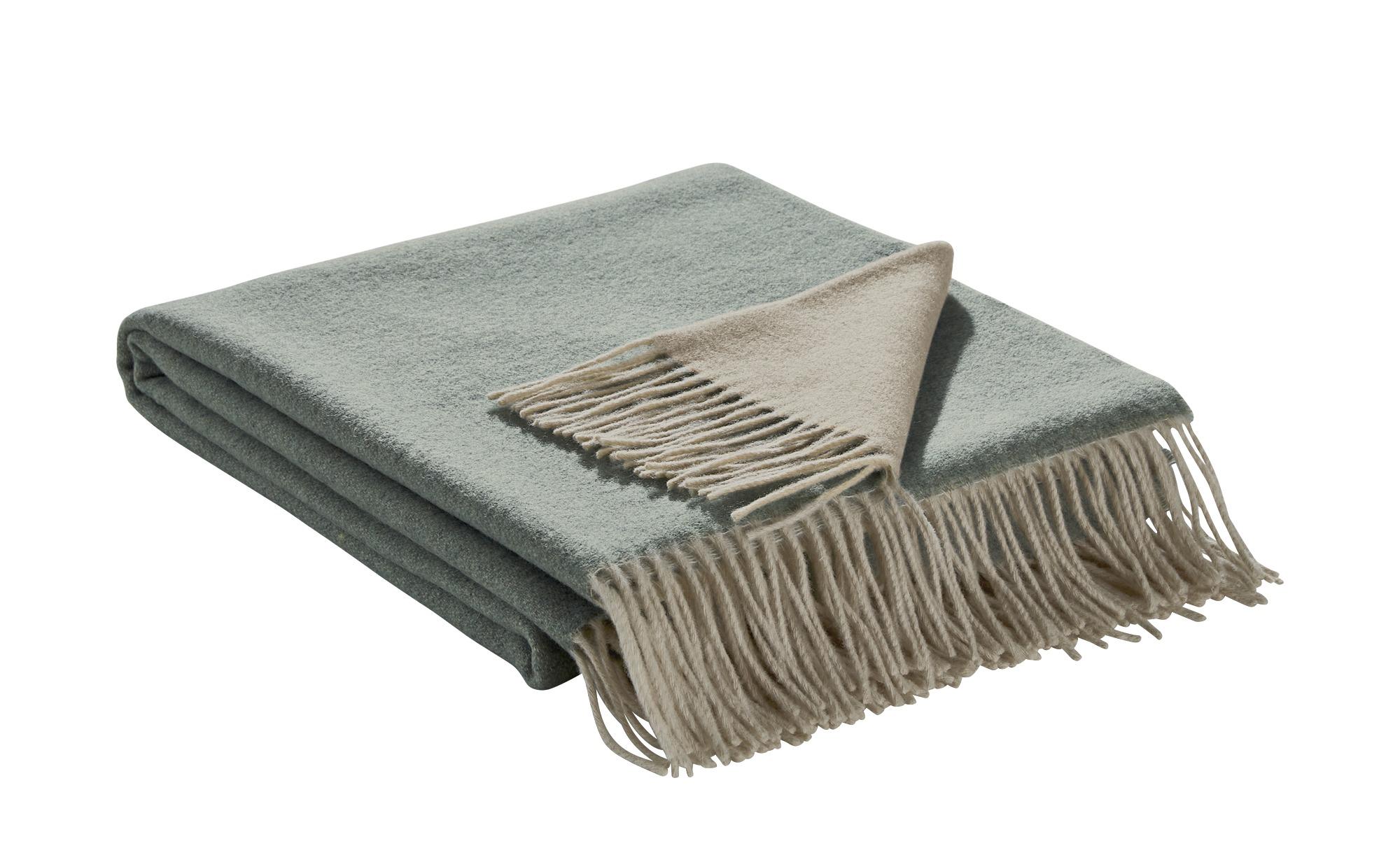 Biederlack Plaid  Cashmere Plaid - grün - 130 cm - Heimtextilien > Kuscheldecken - Möbel Kraft | Heimtextilien > Decken und Kissen > Tagesdecken und Bettüberwürfe | Cashmere | Biederlack