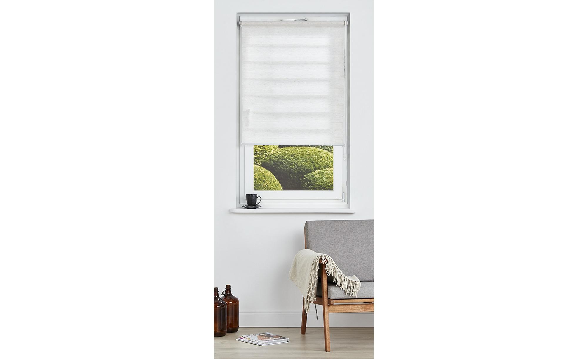 Klemmfix Duo Rollo - beige - 100% Polyestergewebe - 90 cm - Gardinen & Vorhänge > Rollos & Sonnenschutz > Rollos - Möbel Kraft | Heimtextilien > Gardinen und Vorhänge > Vorhänge | Sconto