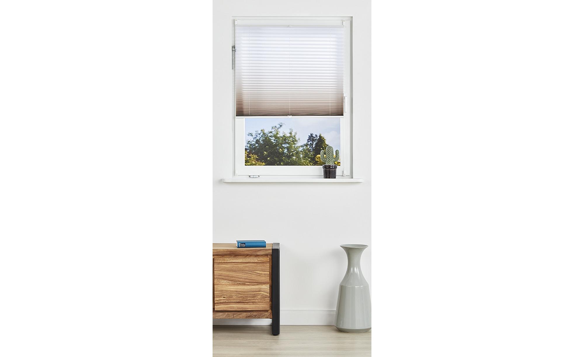 Klemmfix-Plissee - braun - 100% Polyester - 90 cm - Gardinen & Vorhänge > Rollos & Sonnenschutz > Plissees - Möbel Kraft | Heimtextilien > Gardinen und Vorhänge > Vorhänge | Sconto