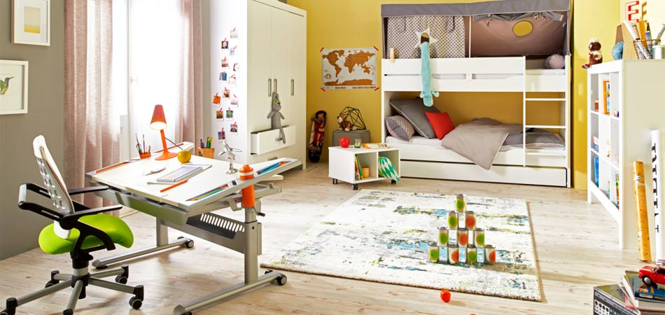 Kinderzimmer farbenfroh
