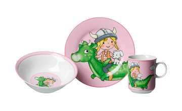 Ritzenhoff & Breker Kindergeschirr, 3-teilig  Drache pink