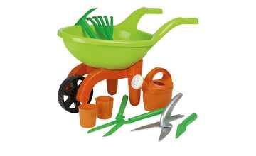 Schubkarre mit Gartenwerkzeug, 9-teilig